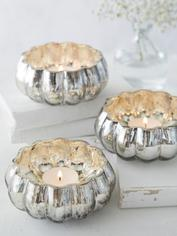 Mercury Silvered Tealight Holders
