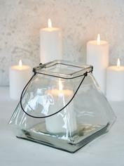 Square Glass Lantern - Clear