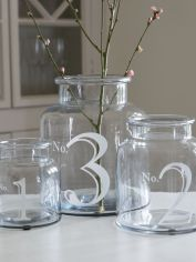 Numbered Glass Hurricanes