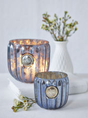 Antique Dark Blue Tealights