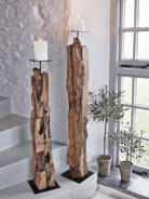 Driftwood Floor Candle Holders