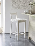 White Wooden Bar Stool