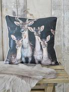 Nordic Deer Cushion - Family