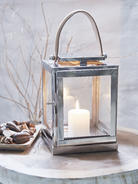 Stainless and Leather Strap Lantern S