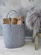 Felt Basket - Light Grey