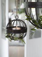 Rustic Cage Tealight Hurricane