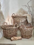 Large Rattan Basket Set