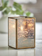 Soft gold tealight holder for Home decor 75063