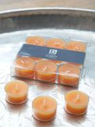 Orange Clear Cup Tealights