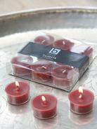Burgundy Clear Cup Tealights