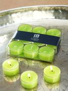 Lime Green Clear Cup Tealights