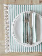 Green & White Table Linen