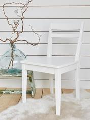 White Wooden Dining Chair