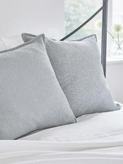 Quilted Cushion - Soft Grey