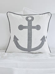 Anchor Cushion - Grey