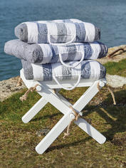 Coastal Stripe Seat Cushion