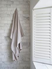 Pure Linen Hammam Towel - Light Grey