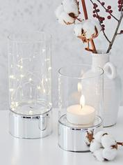 Clear Glass Tealight Hurricanes