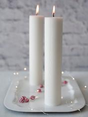 White Numbered Advent Candle