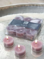 Dusty Lavender Clear Cup Tealights