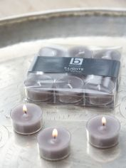 Dove Grey Clear Cup Tealights