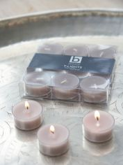 Linen Clear Cup Tealights