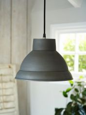 Metal Pendant Lamp - Matte Charcoal